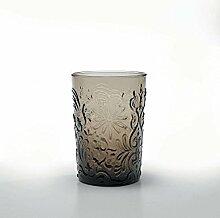 Zafferano Set 6 Barocco Tumbler Wasserglas Grau
