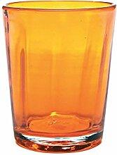 Zafferano Set 6 Tumbler Wasserglas Orange
