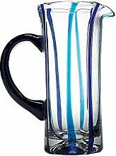 Zafferano Tirache Wasserkaraffe Aquamarin-blau