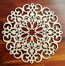 Zagora 1X Holzornament Fleur Verzierung Ornament