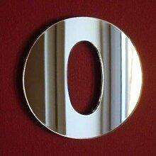 Zahl 0Wandspiegel, plastik, 45 cm