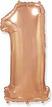 Zahl 1 Rose Gold – Folienballon 40 – 102 cm