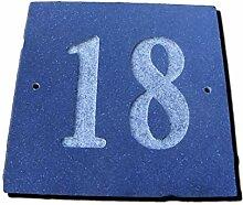 Zahl 18schwarz granit Haus Tür Nummer Platz