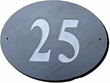 Zahl 25Oval Natur Grau Slate Haus Tür Nummer