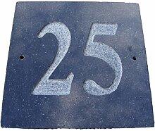 Zahl 25schwarz granit Haus Tür Nummer Platz