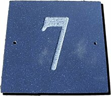 Zahl 7schwarz granit Haus Tür Nummer Platz