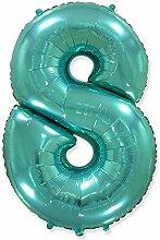 Zahl 8, Tiffany – Folienballon 40 – 102 cm –