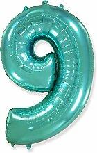 Zahl 9, Tiffany – Folienballon 40 – 102 cm –
