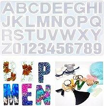 Zahlen buchstaben alphabet silikon gießharz form