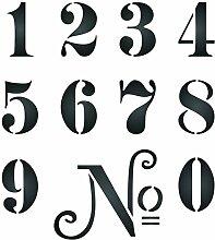 Zahlen Schablone-wiederverwendbar Vintage