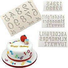 Zahlen und Buchstaben Schokoladenform Silikon