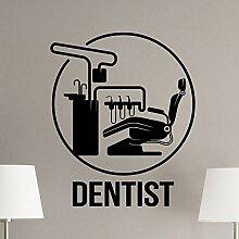 Zahnarzt Zeichen Wandaufkleber Zahnklinik Stuhl