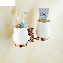 Zahnbürste/Becher/ Pinsel Tasse/ Glas Doppelbecherhalter-B