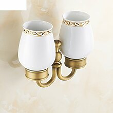 Zahnbürste/ Glas Doppelbecherhalter/Europäische antike Pinsel Cup/ Glas Zahnbürste Tasse/Becher