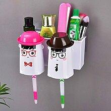 Zahnbürstenhalter Wand Zahnbürstenhalter Set (1