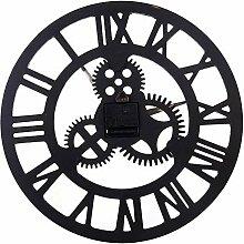 Zahnrad Wanduhr, 40cm Holz römische Ziffer Uhr