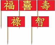 Zahnstocher : Asien Symbole