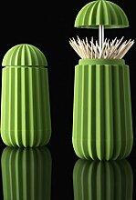 Zahnstocherhalter Cactus von Essey - in Grün - grün - Zahnstocherhalter Zahnstocherbox Zahnstocherständer Kaktus Kunststoffdose Zahnstocherdose Büroküche softtouch Küchenzubehör Küchenaccessoires Küchenutensilien Zahnstocher Zahnstocherspender Spenderbox