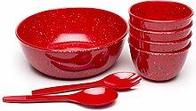 Zak Designs 1313-0843-ISET Confetti Salad Plates