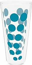 Zak Designs 1783-N310 Dot Dot doppelwand Glas 35 cl, aqua blau