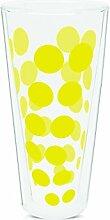 Zak Designs 2005-N310 Dot Dot doppelwand Glas 35 cl, gelb