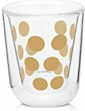Zak. Designs 2305–8600Gold, transparent universal 4pieza (S) Tasse und Becher–Tasse/Becher (Universal, Festsetzung, 0,0075L, Gold, transparent, Glas, Polypropylen, Silikon, 4Stück (S))