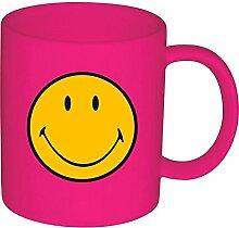 Zak Designs 6187-1591 Smiley Klassik Becher fuchsia 35 cl