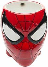 zak Designs BPA frei modellierte Keramik Tasse in Form von Classic Storm Trooper Helm, multicolor Spiderman mehrfarbig