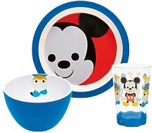 Zak Designs MMLW-0391 Disney Kindergeschirr-Set, Mickey, 3-teilig