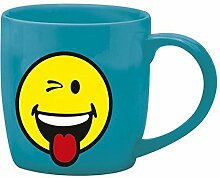 Zak Designs Tasse Kaffee Porzellan 20cl, blau