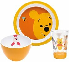Zak Designs WPAI-0391 Disney Kindergeschirr-Set, Winnie Pooh, 3-teilig
