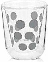 ZAK Dot Dot doppelwand Glas 7,5 cl & Löffel 4-er