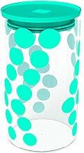 ZAK Dot Dot Vorratsdose 96 x H 180 - 1,1 lt aqua blau