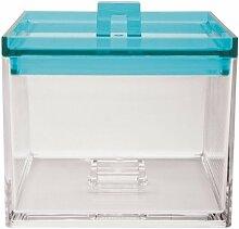 ZAK Meeme Vorratsdose S, 950 ml, transparent/aqua blau