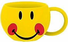 zakdesigns 6727-009 Henkelbecher Smiley - Rote Wangen 350 ml, Porzellan, mehrfarbig, 11 x 11 x 7 cm