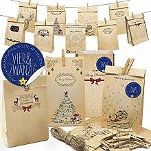 ZALA 24 Adventskalender Zum Befüllen, Weihnachten