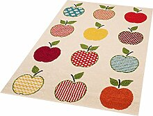 Zala Living Apple Mike Kinder-/Spielteppich, Polypropylen, Creme, 170 x 120 x 0.8 cm