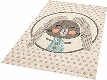 Zala Living Bunny Marty Kinder-/Spielteppich, Polypropylen, Creme, 170 x 120 x 0.8 cm