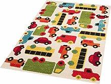 Zala Living Cars Mason Kinder-/Spielteppich, Polypropylen, Creme, 170 x 120 x 0.8 cm
