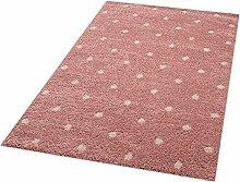 Zala Living Dots Lily Kinder-/Spielteppich, Polypropylen, Rose, 170 x 120 x 3.5 cm