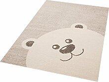 Zala Living Teddy Bear Toby Kinder-/Spielteppich, Polypropylen, Creme Beige, 170 x 120 x 1.7 cm