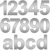 Zalafino® Edelstahl Design Hausnummer fein