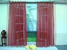 ZALAGO Schlaufenschal Dekoschal Fenster Schlaufen-Vorhang Raffgardine Dunkelrot,B 140 * H 225CM