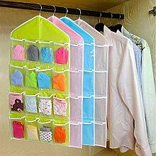 zanasta [4 Stück] Kleiderschrank Organizer