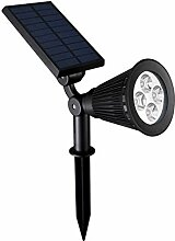 Zantec 4 LED 2W Wasserdichte Solarbetriebene Yard