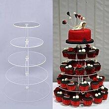 zantec Fashioned 5Etagen deinstalliert rund Kristall Acryl Hochzeit Cupcake Tower Ständer Hochzeit Display Party Abschlussfeier Dekoration DIY Kuchen Ständer