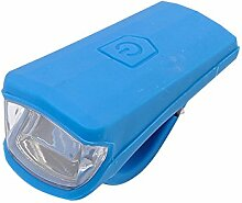 zantec LED Taschenlampe über USB aufladbar Silikon Fahrradlampe blau