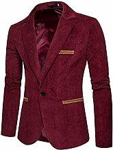 Zantec Männer stilvolle Cord Anzug Jacke lässig Mantel Geburtstag Valentinstag Geschenk