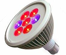 Zantec Pflanze wachsen Licht, E27 AC 85 265V 7W LED Pflanze wachsen hell rot & blau 7 LEDs wachsen Lampe für Hydroponische Gewächshaus organische LED wachsen Glühbirne
