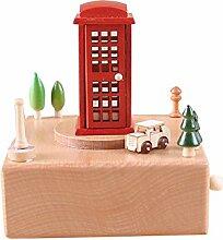 Zantec/Spieluhr, Holz, Dekoration, zum Geburtstag oder Weihnachten, für Kinder und Freunde